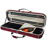 SKY Violin Oblong Lightweight Case with Hygrometer Red/White Sports Style