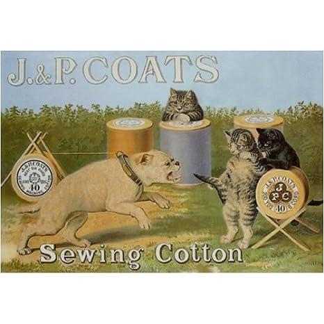 SIGNS 2 ALL L1245 Grande J y P Abrigos Costura algodón Metal Publicidad para la Pared Retro Arte: Amazon.es: Hogar