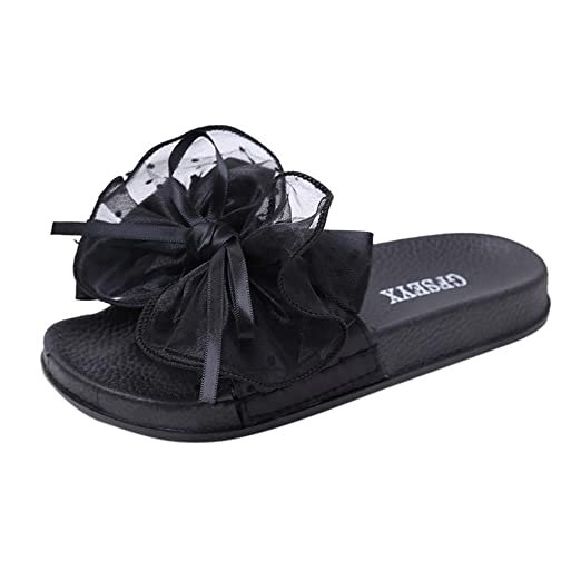 23aba8b55350a DENER❤ Women Ladies Summer Sexy Slippers, Designer Lace Bow Knot ...