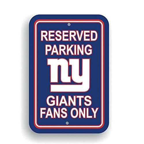 Fremont Die NFL New York Giants Plastic Parking Sign]()