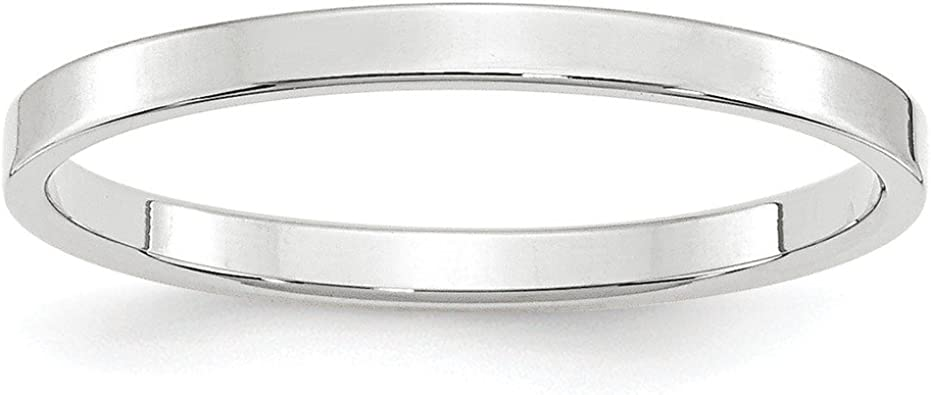 Top 10 Jewelry Gift 10KY 5mm LTW Flat Band Size 11