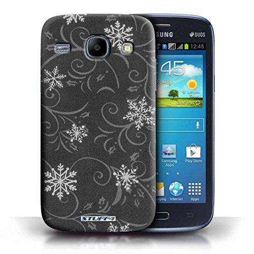 Kobalt® Imprimé Etui / Coque pour Samsung Galaxy Core / Noir conception / Série Motif flocon de neige