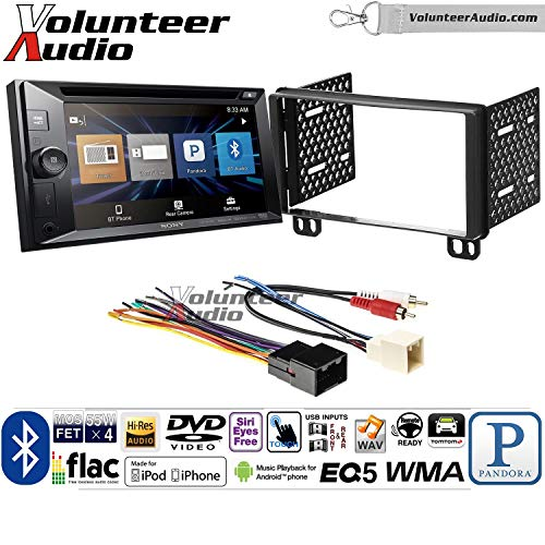 Volunteer Audio Sony XAV-W651BTN Double Din Radio Install Kit w/Bluetooth, Pandora, iPhone Control, USB, AUX, Navigation For 2002-2005 Explorer, 2001-2004 Mustang