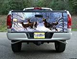 T81 DEER HUNTING BUCK TAILGATE WRAP Vinyl Graphic Decal Sticker F150 F250 F350 Ram Silverado Sierra Tundra Ranger Frontier Titan Tacoma 1500 2500 3500 Bed Cover tint image