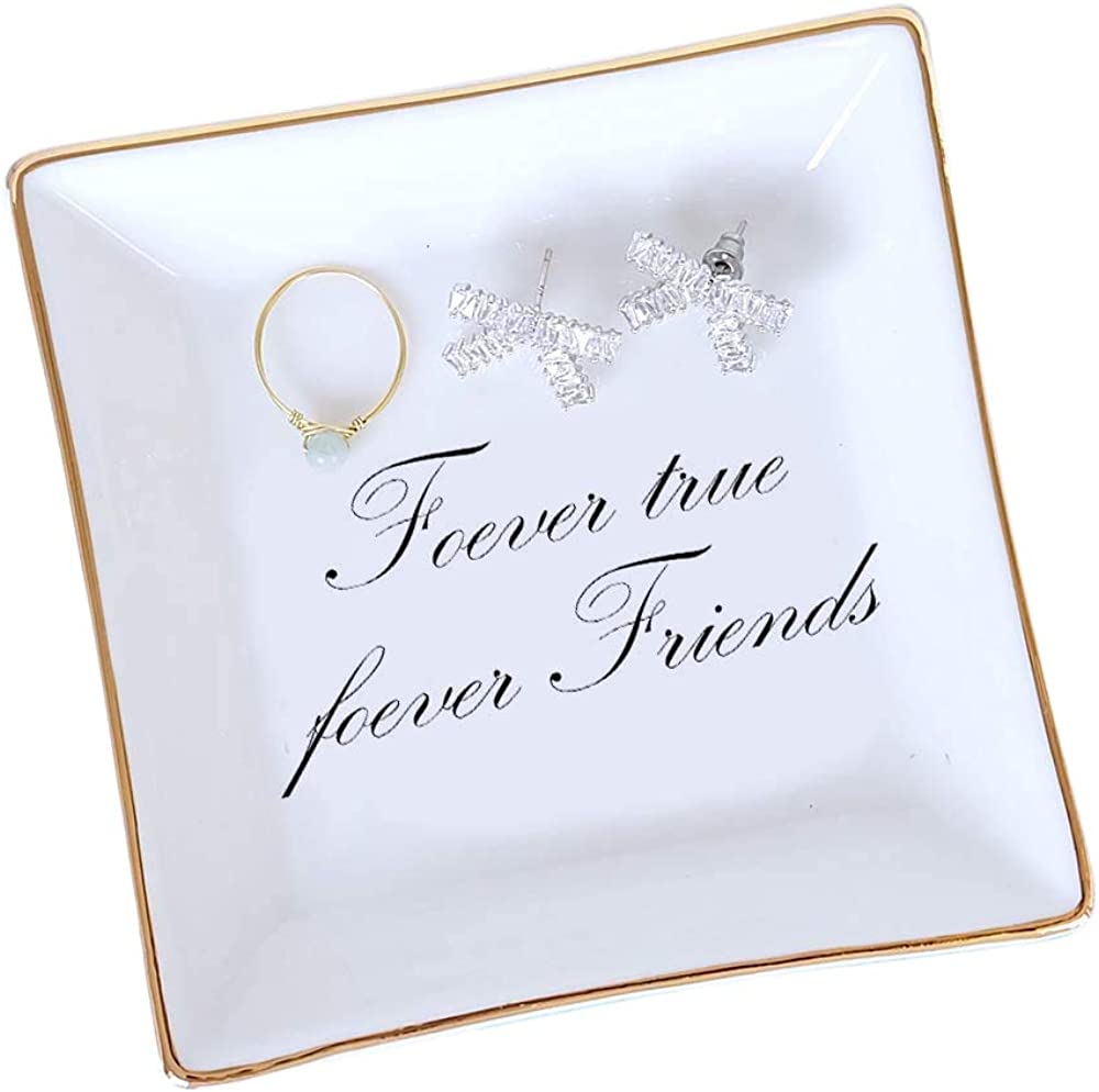 FairyLavie Porte Bague Plat de Bague Porte Bijoux Bracelets Boucles d/'Oreille Bibelot Plateau pour Femmes Filles Cadeaux d/'Anniversaire