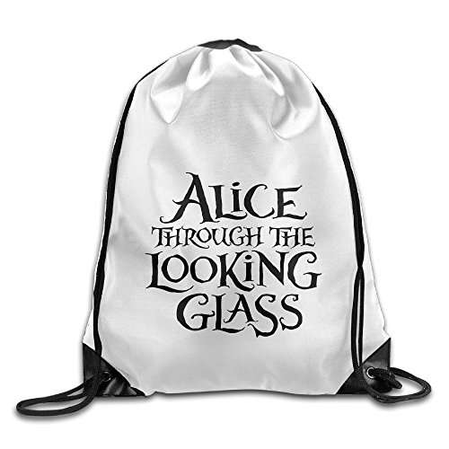 Bekey Alice Through The Looking Glass Drawstring Backpack Sport Bag For Men & Women For Home Travel Storage Use Gym Traveling Shopping Sport Yoga (Home Made Dog Costume)