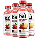 Bai Flavored Water, São Paulo Strawberry Lemonade, Antioxidant Infused Drinks, 18 Fluid Ounce Bottles, 6 count