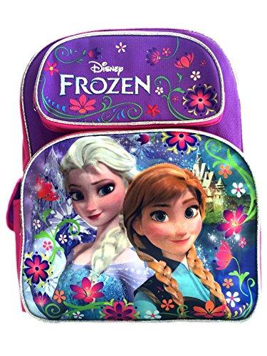 Disney Frozen Backpack 16 Large Bag, Elsa Anna Light Purple Snow