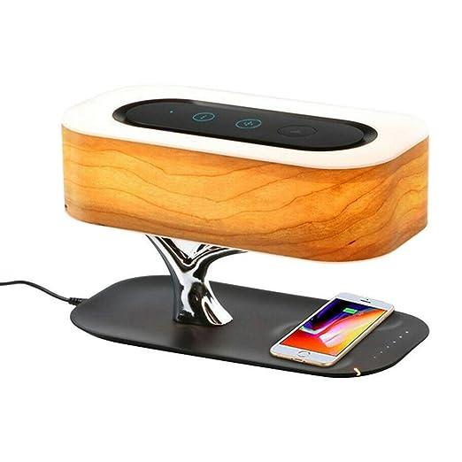 Tbyy - Lámpara de Noche con Altavoz Bluetooth y Cargador ...