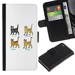 EuroCase - Apple Iphone 4 / 4S - warrior cats superhero grey brown - Cuero PU Delgado caso cubierta Shell Armor Funda Case Cover