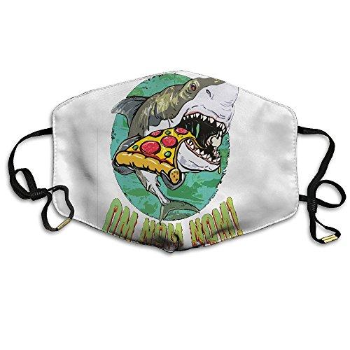 XTMZ Unisex Mouth Mask Shark Eating Pizza Stylish Reusable Face Mask for Womens (Man Eating Shark Costume Pattern)