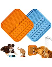 Pet Lick Mat, Slow Feeder Lick Pad-Boredom Distraction-Anxiety Relief Peanut Butter Lick Pad-Promote Health/Feeder for Fun Licking Mat for Dogs&Cats (Small, 2 Pack)