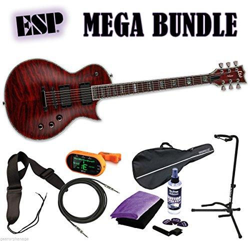 Details about ESP LTD Deluxe EC-1000QM STBC See Thru Black Cherry *NEW* FREE MEGA BUNDLE 2