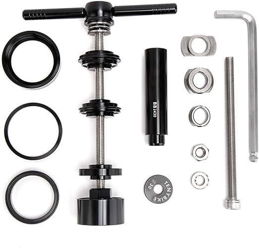 ORETG45 - Juego de herramientas de extracción manual para eje central de bicicleta y reparación de cáscara de presión en rodamiento llave de mantenimiento variada t instalación universal de pedalier: Amazon.es: Hogar