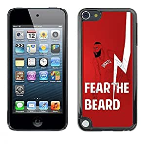 Best-Diy BBCase James Harden Houston Rockets Fear The Beard Basketball Apple iPod Touch 5 - - Slim YP0eWOMcSTv 360 protective case cover PC / Aluminium Protector case cover Rugged