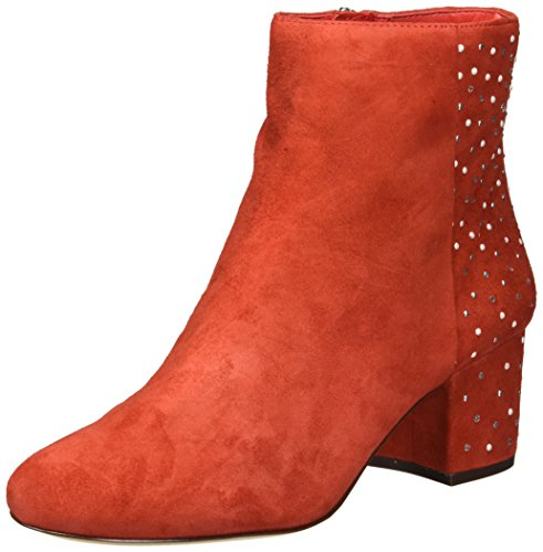 Nine West Women's QUAZILIA Suede Ankle Boot, red, 8 M US (Nine West Booties Suede)