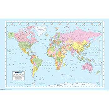 Amazon pyramid america world map color educational poster 18x12 pyramid america world map color educational poster 18x12 inch gumiabroncs Choice Image