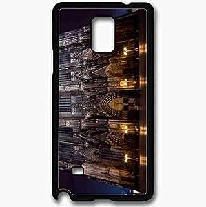 Unique Design Fashion Protective Back Cover For Samsung Galaxy Note 4 Case Gothic Night Black
