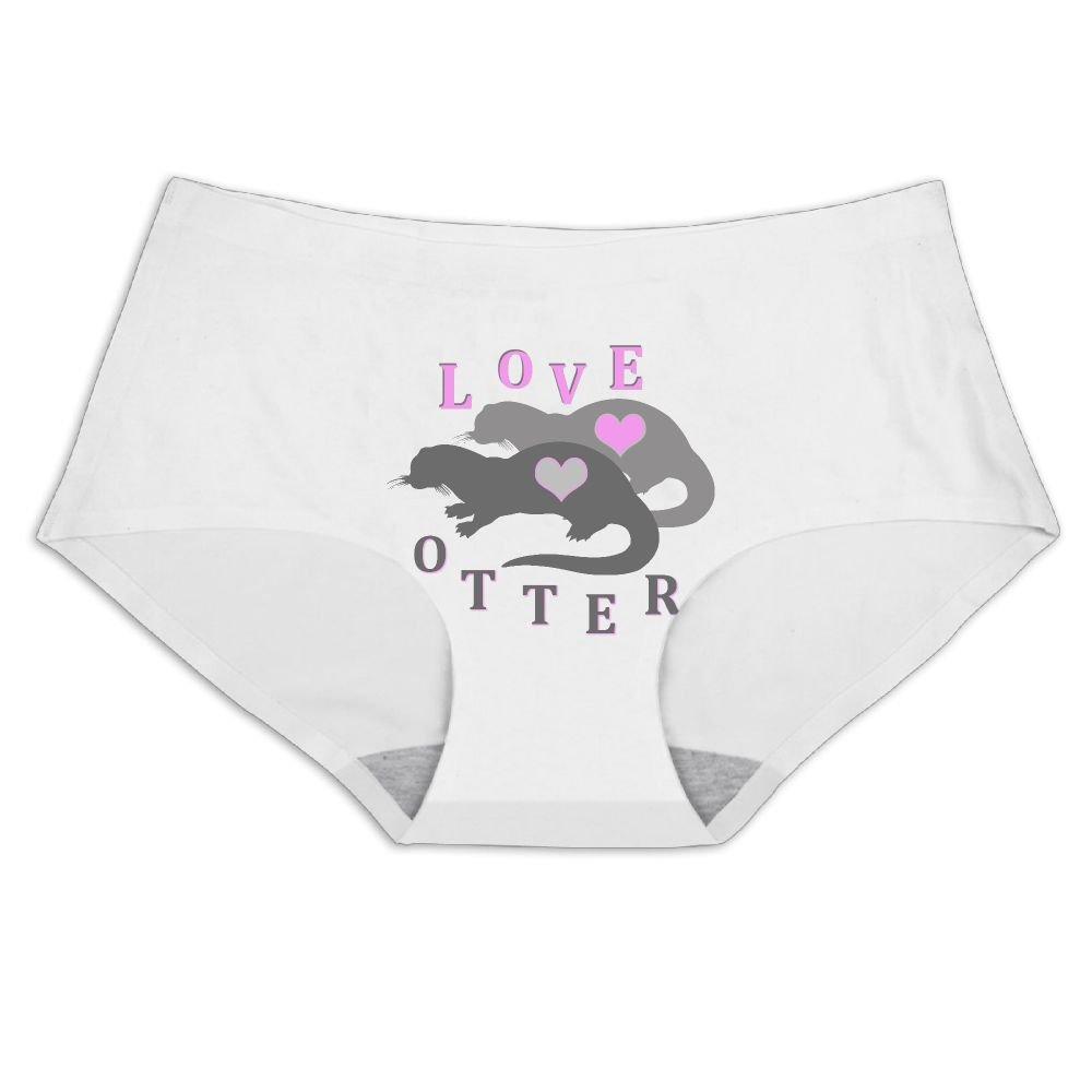 Women's Underwear Love Otter Seamless Ice Silk Panties Briefs