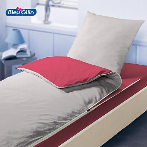 Caradou-Saco de dormir, color gris y rojo: Amazon.es: Hogar