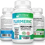 Organic Turmeric Curcumin Inflammation Supplement: Formulated with Ginger, Boswellia & BioPerine® by Clinical Nutritionist Dr. Olivia Joseph [120 Capsules]
