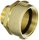 Moon 363-25220621 Brass Fire Hose Adapter RL, Swivel, 2-1/2'' NH Swivel Female x 2'' NPT RL Male