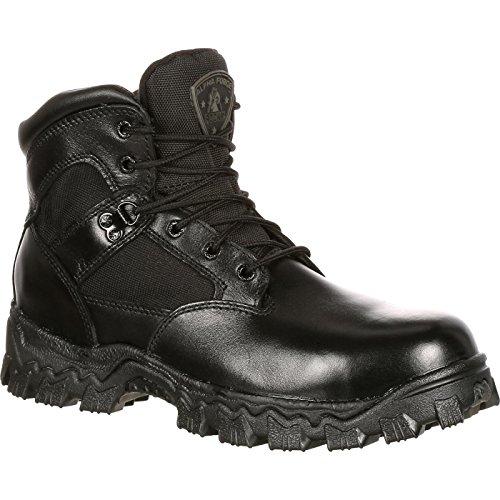 Rocky Men's Alpha Force 6 Inch Steel Toe Work Boot,Black,8 W US ()