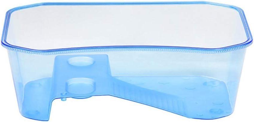 Kylewo Caja de Vivarium de Tortuga Reptil para Mascotas multifunción, Acuario de plástico Semitransparente con rampa para Tomar el Sol para Tortugas de 10 cm