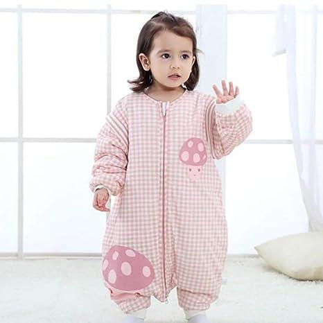 ZLMI Bebé Y Niño Piernas Bolsa De Dormir Anti-Patadas De Algodón Pijamas De Los