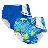 i play. 2 Pack Boys Reusable Baby Swim Diapers Royal Blue and Green Sea Turtle 18 Months