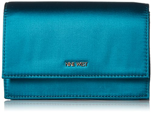 Nine West Mini - Nine West Mini Anndi Convertible Clutch Crossbody, jade/soft metallic/silver