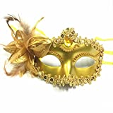 YiYi Operation Masquerade Party mask for Venetian Ball Prom Floral Mardi Gras Costume Flower Half-Face Lace Masks