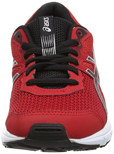 Asics Gel-Zaraca 5 Gs, Zapatillas de Gimnasia Unisex Niños Rojo (True Red/black/silver)