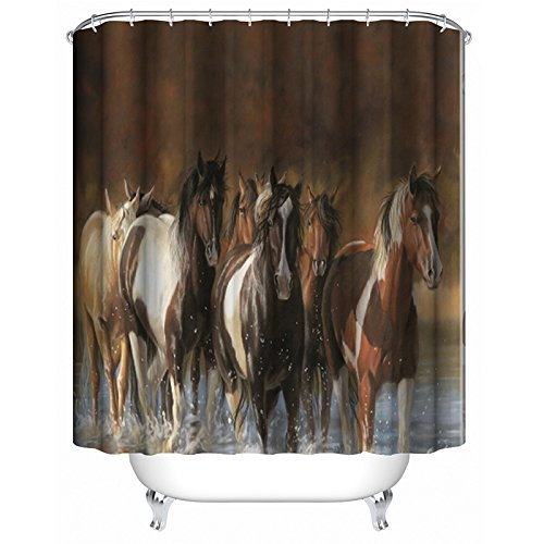 n Polyester Fabric Shower Curtain Water Resistant Shower Curtains Shower Rings Included 72