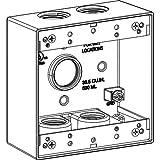 Orbit 2B75-5-BR Electric Box, 2'' Deep 5 Outlets w/3/4'' Hole Size Weatherproof - 2-Gang - Bronze