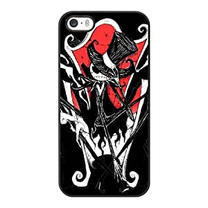 Grouden R Create and Design Phone Case, Jack - The Nightmare Before Christmas Cell Phone Case for iPhone 5 5S SE Black + Tempered Glass Screen Protector (Free) LPC-8034143