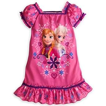 Disney Anna and Elsa Frozen Nightshirt Nightgown Pajamas (L 10 Large)