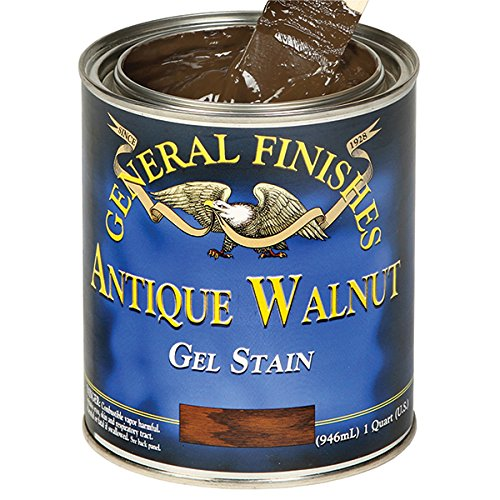 General Finishes Oil Based Gel Stain (Gallon, Antique Walnut) (Gallon Walnut)
