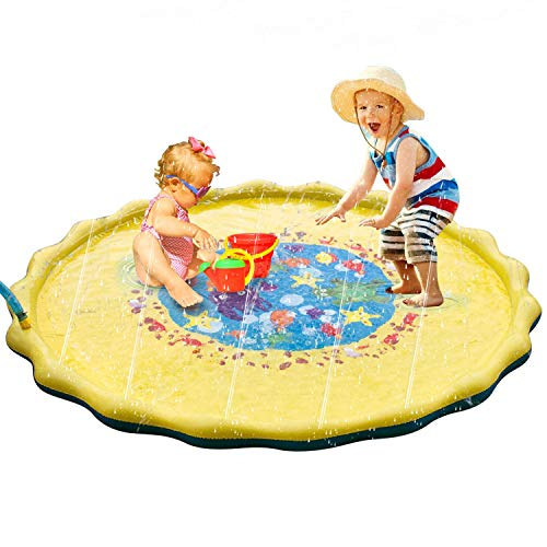 r Sprinkle and Splash Play Mat for Kids | Outdoor Water Toys Fun for Kids | Exclusive Beautiful Design D (69