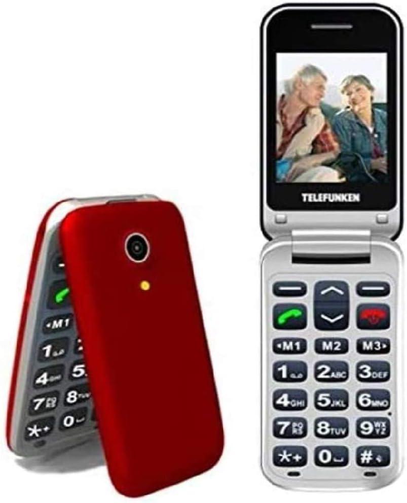 TELEFUNKEN - Teléfono Móvil Telefunken TM 210 Izy Rojo Libre - Teléfono Libre - Comprar Al Mejor Precio: Telefunken: Amazon.es: Electrónica