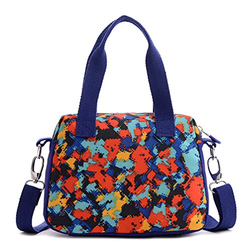 Waterproof Tiny Handbag Crossbody Chou Shoulder for Lightweight Sport handle Colorful Top Nylon Bag Girls 0YEYnr
