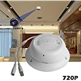 Dummuy Fire Alarm Side View Spy Camera with HD Home Security Camera -BSTCAM Dummy Smoke Detection Pinhole Lens DVR HOME Security Hidden Cameras Recorder Smoke Detector 16GB SD Card [Not included]