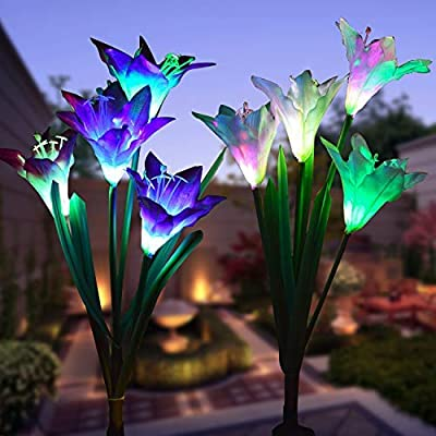 WOHOME Outdoor Solar Garden Stake Lights