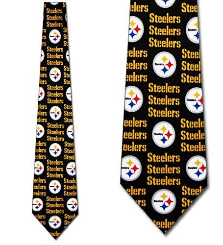 Pittsburgh Steelers tie Mens Neck Tie Threefold NFL Grid by Three Rooker