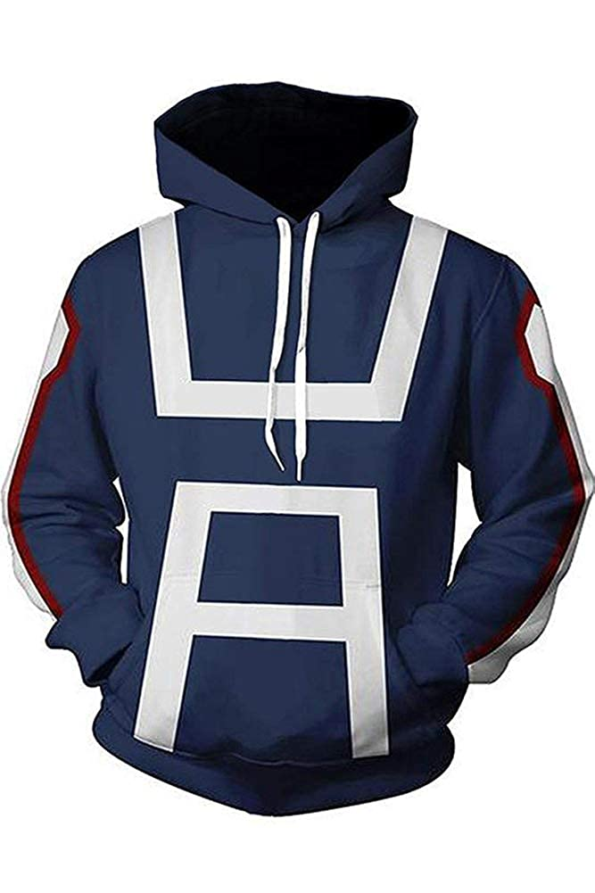 BeautifulTimes My Hero Academia Hoodie Jacket Adult Halloween Costume Cosplay Sweatshirt