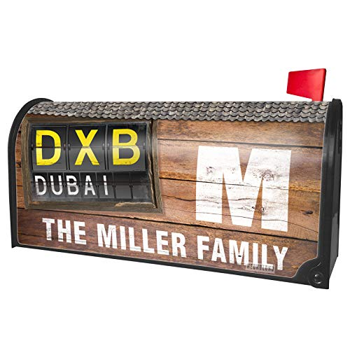 NEONBLOND Custom Mailbox Cover DXB Airport Code for Dubai