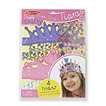 Melissa & Doug Simply Crafty Terrific Tiaras Jewelry-Making Kit (Makes 4 Tiaras)