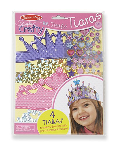 Melissa & Doug Simply Crafty Terrific Tiaras Jewelry-Making Kit (Makes 4 Tiaras) ()