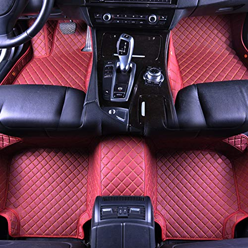 Maycoo Car Floor Mats Carpet 3D Full Surround Waterproof Front Rear Liners Pads All Weather 3 Pieces Fits Mercedes-Benz CLS Class Coupe(Wine red, 2010-2017)