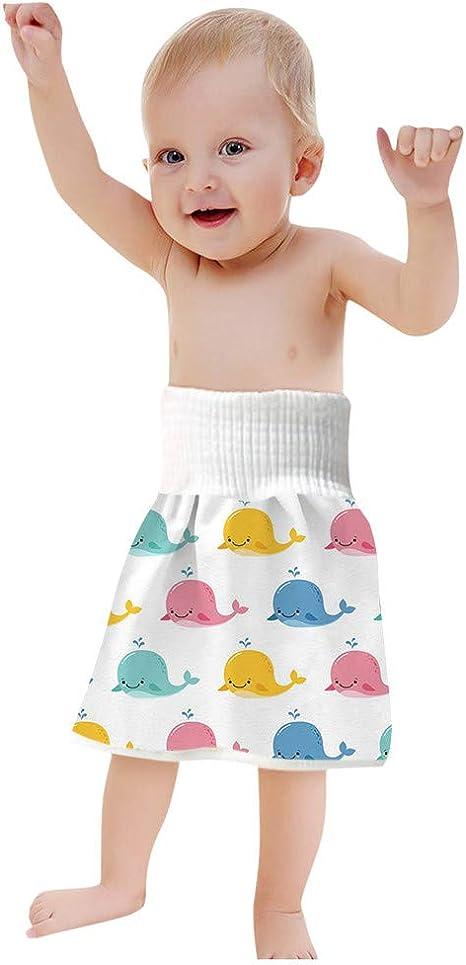 2 in 1 Bequeme Kinderwindelrock Shorts wasserdichte und saugf/ähige Shorts Anti Bettn/ässen Waschbarer Baumwollbambusfaser Rock f/ür 0-8 Jahre Baby Kleinkind Kinder 2PCS Baby Windelrock